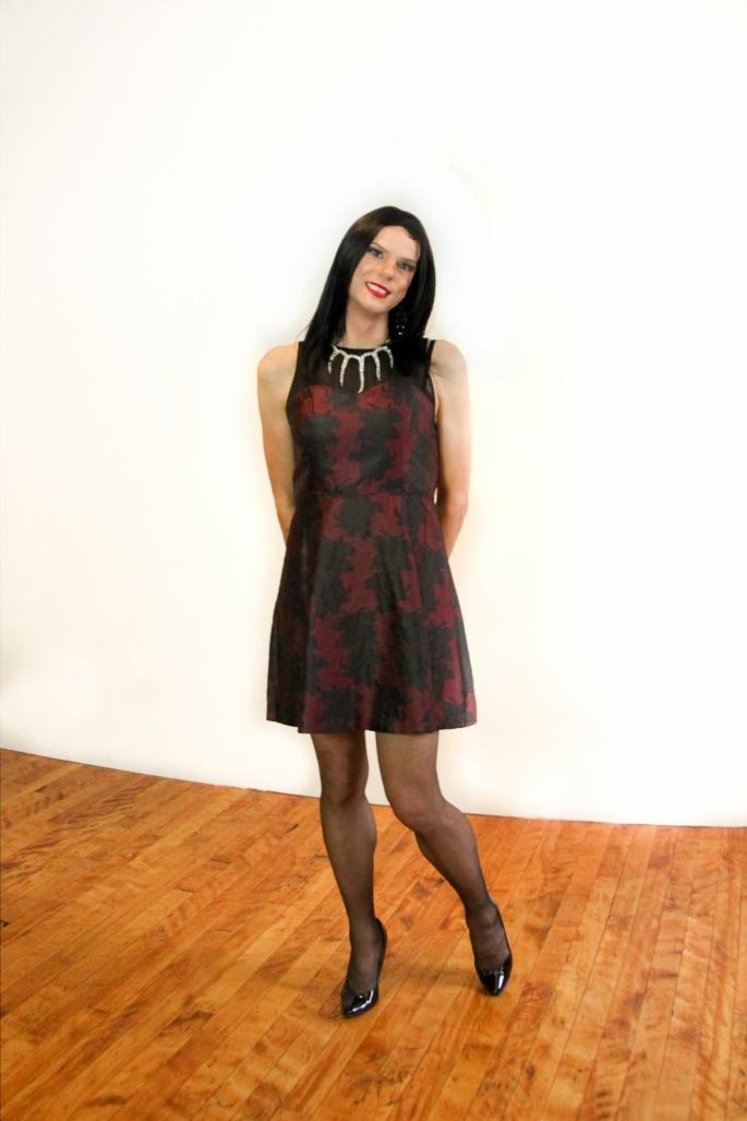 red mesh dress 5