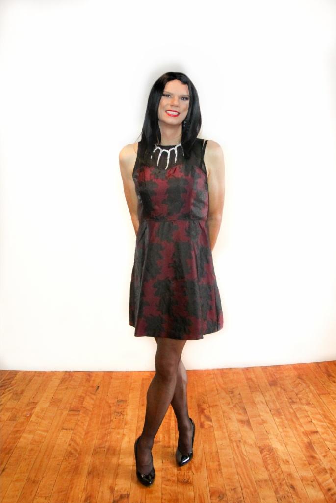red mesh dress 6