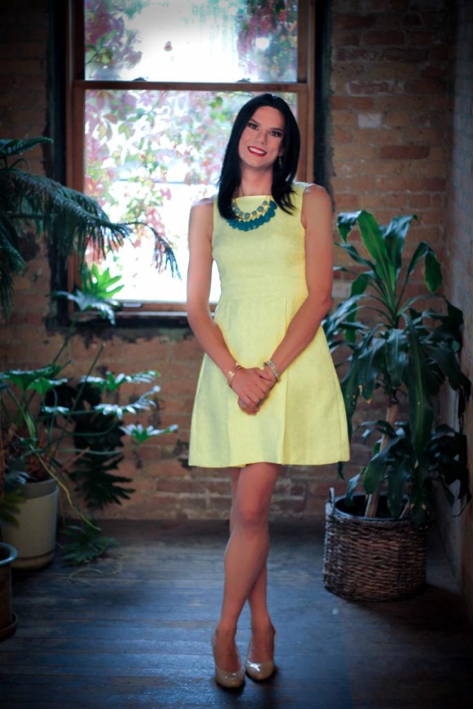 yellow dress 14