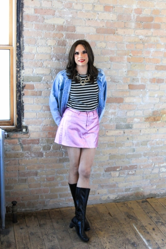 Pink Skirt and Boots 4