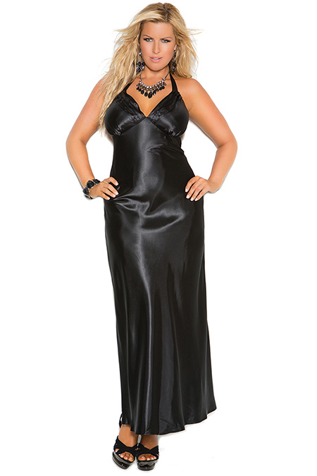 satin-gown-black-front-view